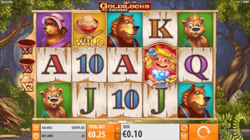 goldilocks videoslot screenshot