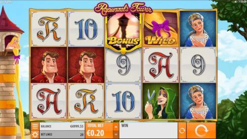 rapunzels tower videoslot screenshot