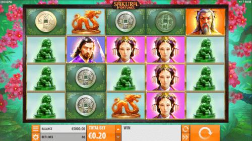 sakura fortune videoslot screenshot