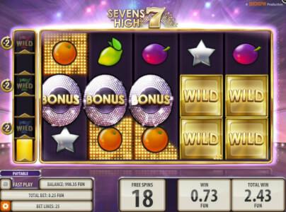 sevens high videoslot screenshot